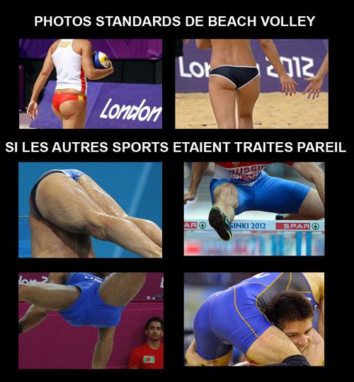 si tous les sports étaient photographiés comme le beach volley