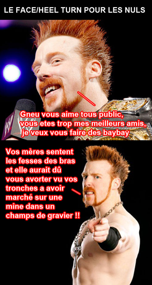 sheamus face heel turn