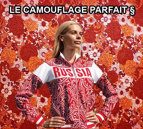 veste russe jeux olympiques camouflage parfait