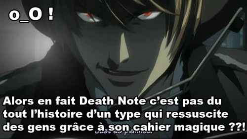 Death note just as planned cahier magique résurrection