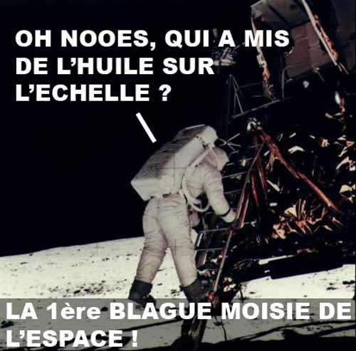 Première blague pourrie de l'espace