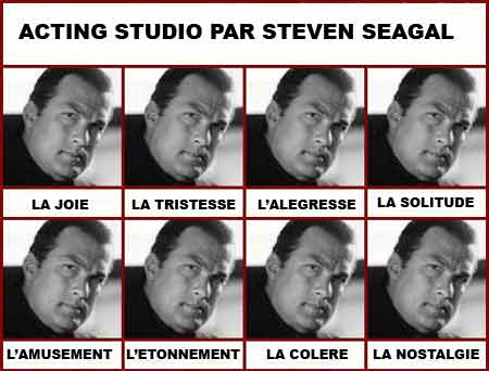 Steven Seagal émotions