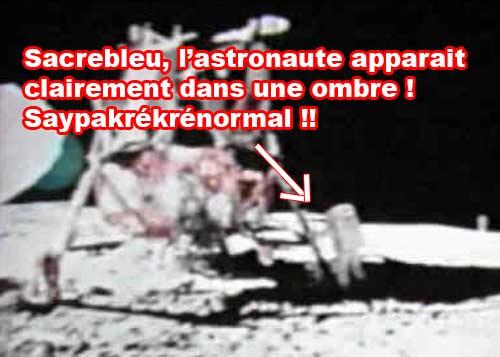 Homme sur la lune problème d'ombres