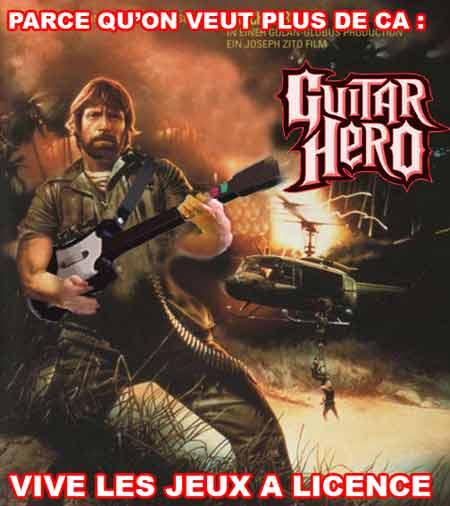 Chuck Norris guitar heroe