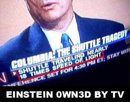 Einstein télé 18 fois vitesse lumière