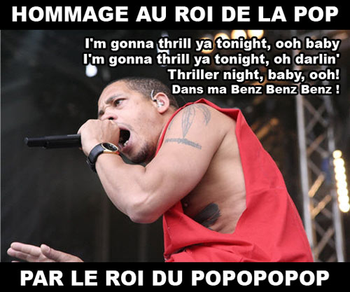 Joey starr hommage roi de la pop