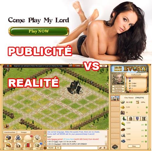 publicité vs réalité