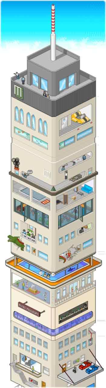 le plus haut batiment virtuel du monde en pixel art nioutaik le blog de l 39 inutile. Black Bedroom Furniture Sets. Home Design Ideas