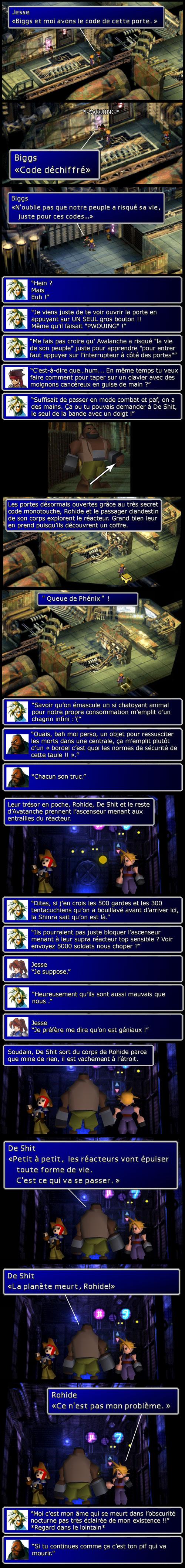Final fantasy 7 : Cloud et Barret prennent l'ascenseur jusqu'au cœur du réacteur 1