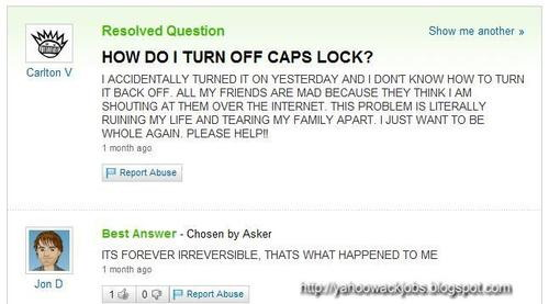 How Do I Turn Off Caps Lock Funny