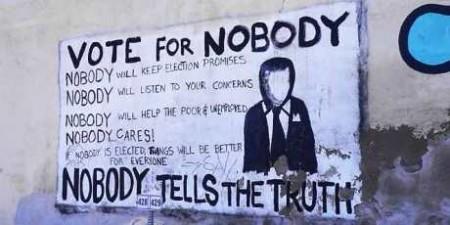 God Walking Amongst Mere Mortal Vote-for-nobody.PV__