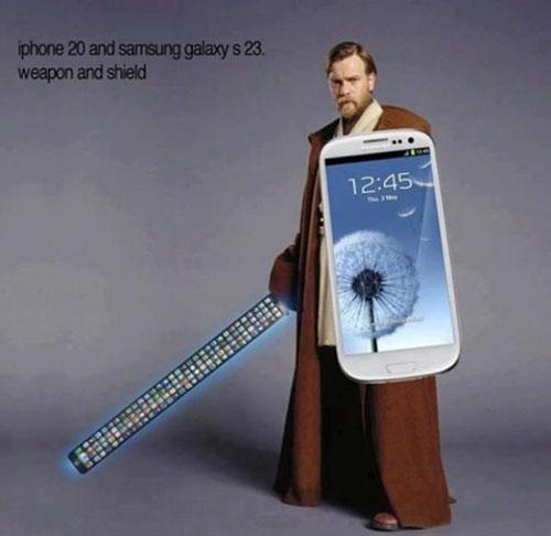 Publicité pourrie iphone sabre laser