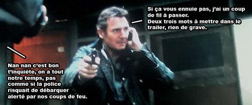 Taken 2 Liam Neeson au telephone avec sa fille